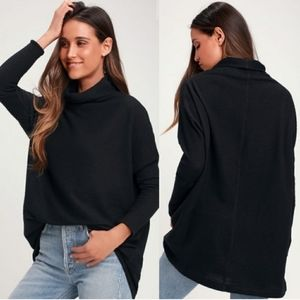 WE THE FREE | Black Kitty Cowl Neck Thermal | XS
